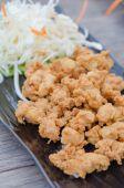 Deep fried chicken tendons — Stock Photo