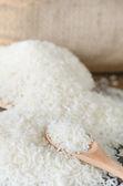 White rice  grains — Stock Photo