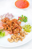 Fried sour fermented chicken — Stock Photo