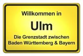 German yellow city limits — Stock fotografie