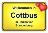 German yellow city limits — Foto Stock