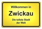 German Yellow City Limits — Stock Photo