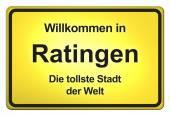 German Yellow City Limits — Stockfoto
