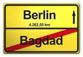Granicach miasta niemiecki żółty — Zdjęcie stockowe