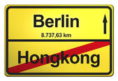 Yellow Sign from Germany — Foto Stock