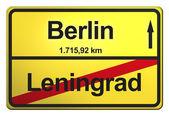 来自德国的黄色标志 — 图库照片