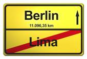 Yellow Sign from Germany — Stock Photo