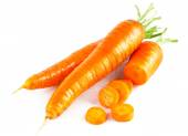 Fresh carrot in section — Stock Photo