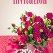 Wedding invitation retro vintage greeting card — Stock Photo #53925393