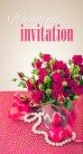 結婚式招待状レトロ ビンテージ グリーティング カード — ストック写真