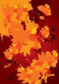 Abstract autumn fallen leaves background — Stock Vector
