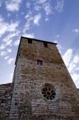 церковь шпиль — Стоковое фото