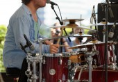 Drummer playing — Stock Photo