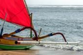 Fischer boot in bali — Stockfoto