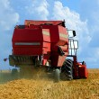 Red Harvester combine — Stock Photo #70260653