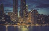 Modern architecture by dusk — Stok fotoğraf