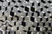 Abstract glass crystallized mirror pattern — Stock Photo