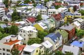 Colorful houses in Reykjavik — Photo