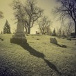 Old cemetery - vintage look with sun light — Stock Photo #57040399