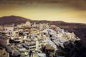 Beautiful sunset over town of Fira, Santorini Island - Greece — Stock Photo