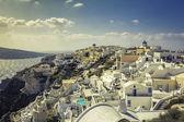деревня ойя в острове санторини, греция — Стоковое фото