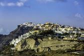 White houses on the cliff of Santorini Island, Greece — Foto de Stock
