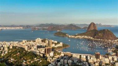 Sunset over Rio de Janeiro — Stock Video