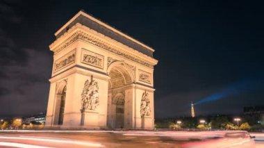 Paris Arc de Triumph — Stock Video