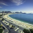 Copacabana Beach and Sugar Loaf Mountain — Stock Photo #64084691