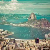Beautiful skyline view of Rio de Janeiro, Brazil — Stok fotoğraf