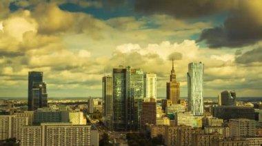 Warsaw Skyline City — Stock Video