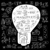Business idea bulb Metaphor illustration — Stock Vector