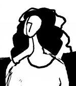 Woman sketch doodles draw — Stock Vector