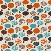 People and bubbles color seamless pattern — Stock Vector