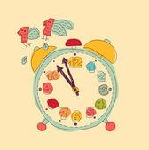 Time management metaphor — Stock Vector