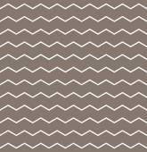 Tile vector pattern with white zig zag print on brown background — Stock Photo