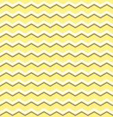 Tile vector pattern with white and brown zig zag print on yellow background — Stock Vector