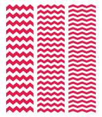 Tile chevron cute vector pattern set with dark pink zig zag on white background — Stock Vector