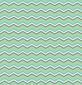 Tile vector pattern with blue, brown and white zig zag print on mint green background — Stock Vector