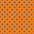 Tile vector pattern with grey blue polka dots on orange background — Stock Vector #53162601