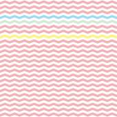 Chevron zig zag tile vector pattern or seamless pink, yellow, green and blue background. — Stock Vector