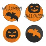 Halloween vector button set with bat and pumpkin. — Stock Vector #55276373