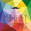 Holidays vector card with mustache and hand drawn Merry Christmas wishes — Stock Vector #58718415
