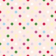 Tile vector pattern with polka dots on pink background — Stock Vector #60724663