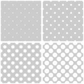 Seamless vector white and grey pattern or background set — Wektor stockowy