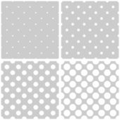 Seamless vector white and grey pattern or background set — Stock Vector