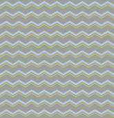 Tile vector pattern with pastel blue and green zig zag print on grey background — Stock Vector