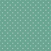 Tile vector pattern with small white polka dots on mint green background — Stock Vector