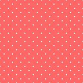 Tile vector pattern with small white polka dots on pastel red background — Stock Vector