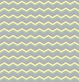 Tile vector pattern with pastel yellow and green zig zag print on grey background — Stock Vector